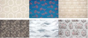 Prints from the Shanghai Nights and Into the Blue collections from Sahco - great mix of stunning color and tonal neutrals.